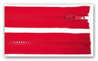 20220 Reißverschluss 55cm rot teilbar für Jacken