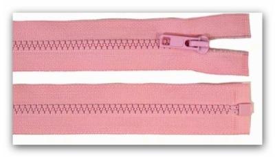 20219 Reißverschluss 55cm rosa teilbar für Jacken