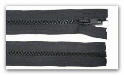 20243 Reißverschluss grau 65cm teilbar für Jacken
