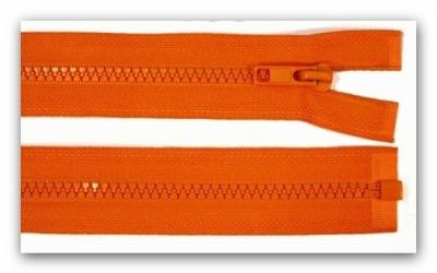 20280 Reißverschluss orange 80cm teilbar für Jacken