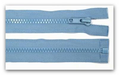 20303 Reißverschluss mittelblau 100cm teilbar für Jacken