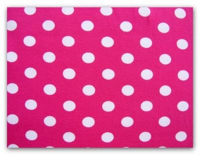 6081 Jersey Stretch Dots Punkten pink weiss