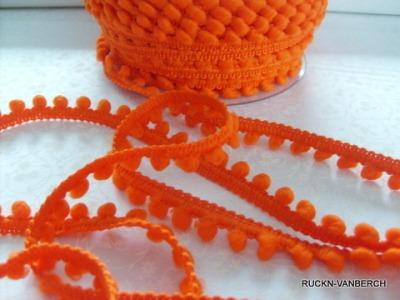3090 Mini Bommelborte Pompom orange
