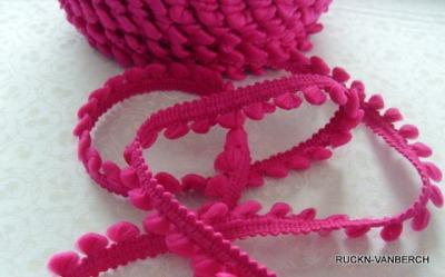 3093 Mini Bommelborte Pompom pink