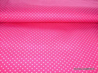 5202 rosa Baumwolle Stoff weiße Punkte