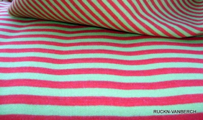 6262 Jersey Stretch Ringel rot / grün