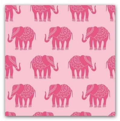5381 Baumwolle Riley Blake Madhuri Elephant rosa