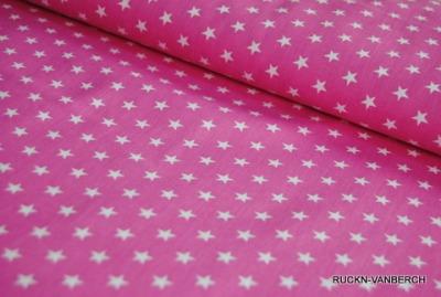 5471 rosa Baumwolle Stoff weiße Sterne