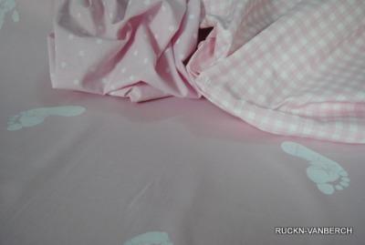 5481 Stoff Baumwolle Hand Feet rosa