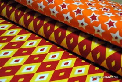 5495 Baumwolle Camelot Design USA orange rot Stern Stars