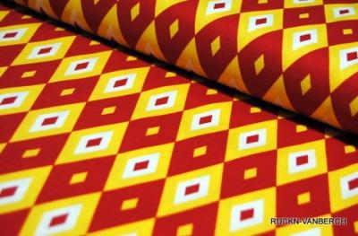 5496 Baumwolle Camelot Design USA orange rot Raute