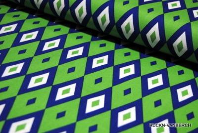 5497 Baumwolle Camelot Design USA blau grün Raute
