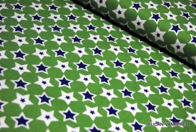 5498 Baumwolle Camelot Design USA blau grün Stern Stars