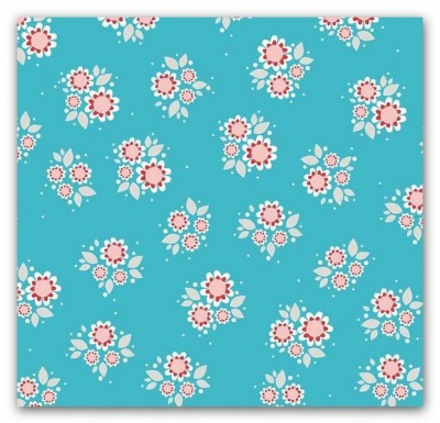 5516 Baumwolle Twice as nice Blume Flower türkis USA