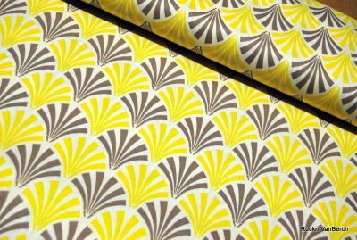 5575 Baumwolle Camelot Design USA gelb grau Patchwork