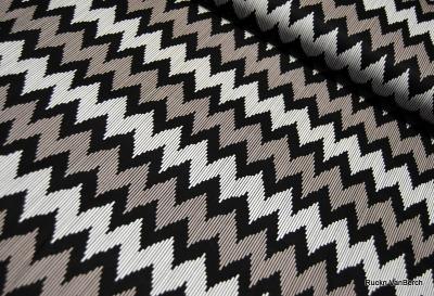 5585 Baumwolle Camelot Design USA schwarz Chevron