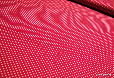 5636 pink Baumwolle Stoff weiß Dots