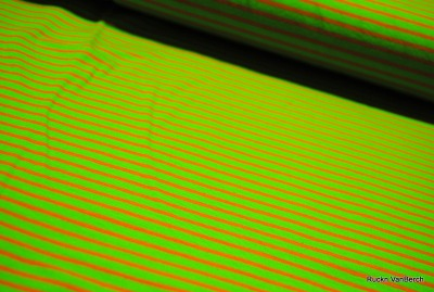 6554 Jersey Stretch Ringel Streifen apfelgrün orange