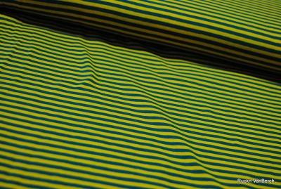 6582 Jersey Stretch Ringel Streifen senf jadegrün grün
