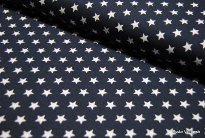 60402 Jersey Baumwolljersey Stretch Sterne Stars navy weiß
