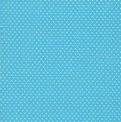 6705 Jersey Punkte Dots türkis weiß Sommer