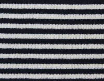 6713 Ringelbündchen / Bündchenware marine weiß