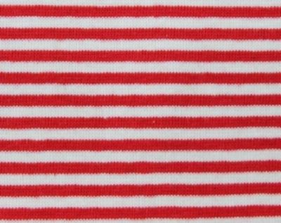 61003 Ringelbündchen / Bündchenware rot weiß