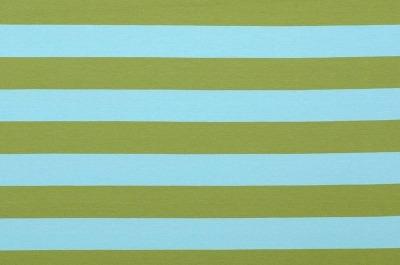 6727 Jersey Stretch Blockstreifen Ringel hellblau oliv
