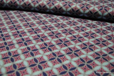 5821 Stoff Baumwolle Blumen Kreise pink