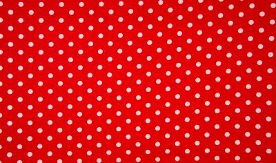 50084 rot Baumwolle Stoff weiße Punkte