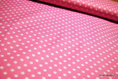5849 rosa Baumwolle Stoff weiß Punkte