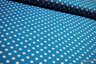 5850 türkis Baumwolle Stoff weiß Punkte