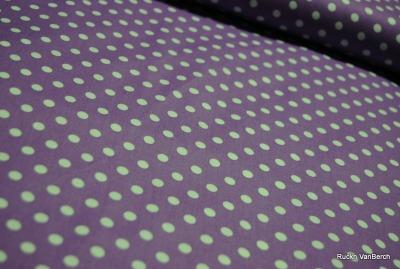 5851 flieder Baumwolle Stoff weiß Punkte