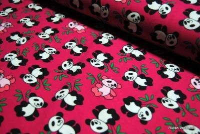 6819 Jersey Panda Bär pink rosa Kinder