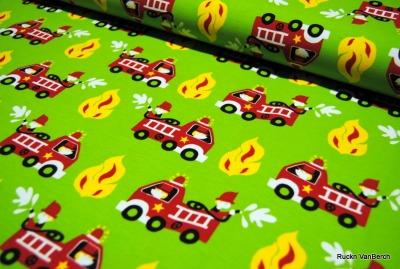 6840 Jersey Stretch Feuerwehr grün Jungs