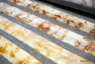 6878 Viskosejersey Streifen Block grau edel