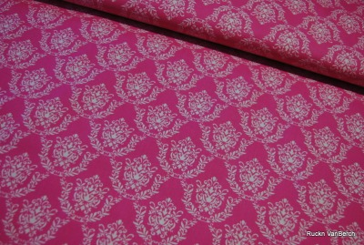 5890 BW Stoff Flower Parade rosa