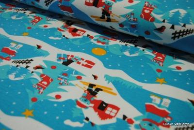 6152 Jersey Stoff Winter Wonderland Schweden jny