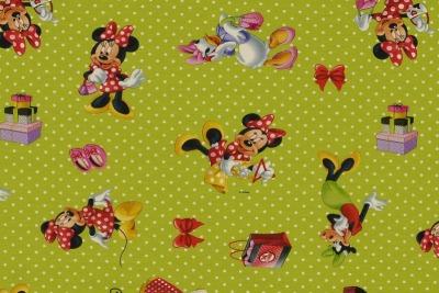 6180 Jersey Stoff Stretch Mickey Mouse Minnie