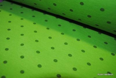 6219 Bündchen Schlauchware Punkte Dots grün