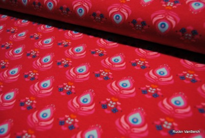 6040 Jersey Stretch Blume Flower Hearts