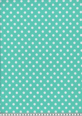 6948 Jersey Stretch mint weißen Dots