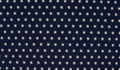 344748060026 Baumwolle Stoff navy weiße Sterne