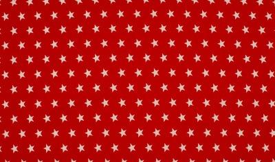73136001000 rot Baumwolle Stoff weiße Sterne