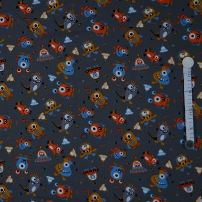 7464 Sweat Sweatshirt Mies & Moos Monster orange