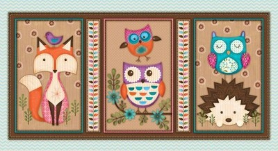 5945 Baumwolle Stoff Paneel Woodland Critters