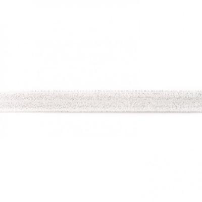 3423 Einfassband elastisch weiß Glitzer 15mm