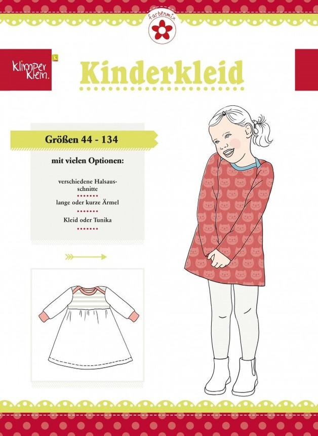 Klimperklein Schnittmuster Kinderkleid farbenmix