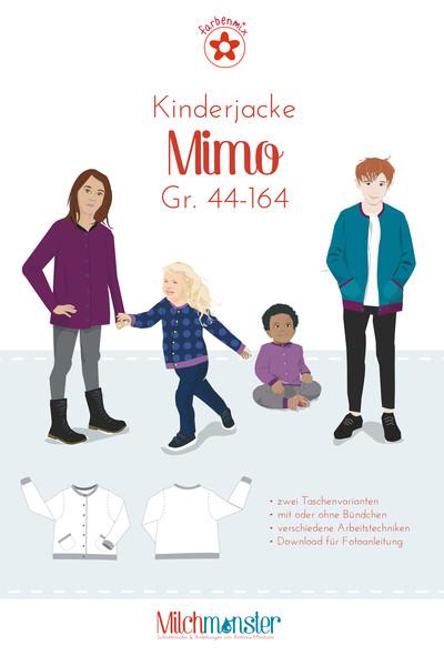 Schnittmuster Mimo von Milchmonster Kinderjacke