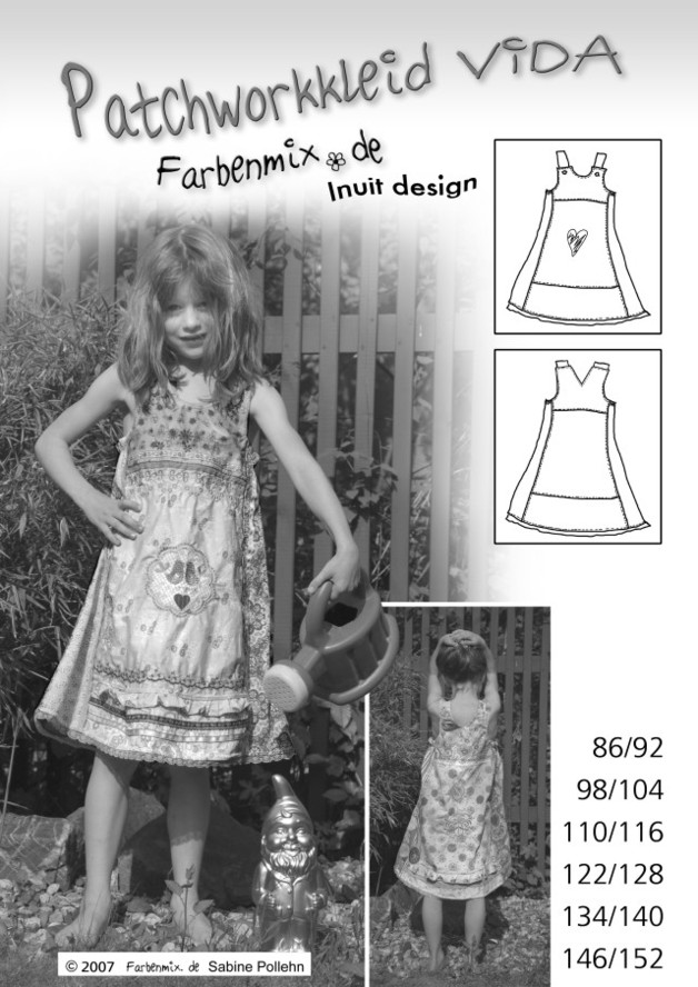 Vida Farbenmix-Schnittmuster Kleid